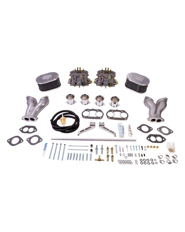 EMPI Twin D 45mm Deluxe Carburettor Kit, Twin Port