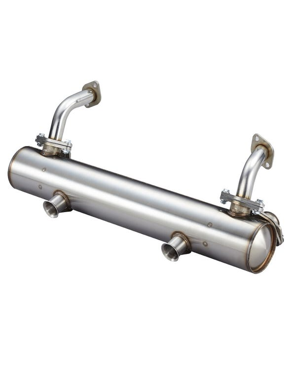 Vintage Speed Classic Stainless Exhaust, Twin Tail Pipe