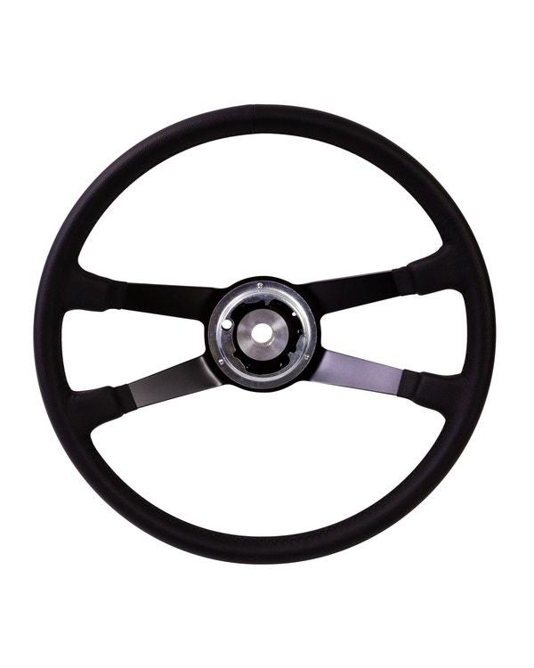 SSP Black Leather Steering Wheel inc Boss for Porsche. 395mm