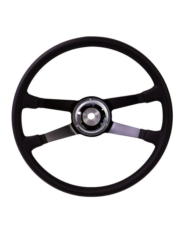 SSP Black Leather Steering Wheel inc Boss for Porsche 395mm
