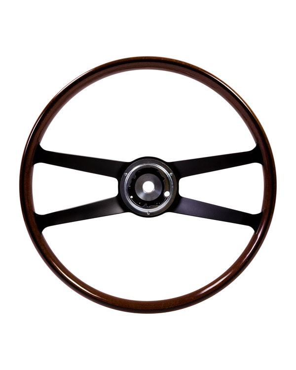 SSP Mahogany Steering Wheel inc Boss for Porsche. 417mm