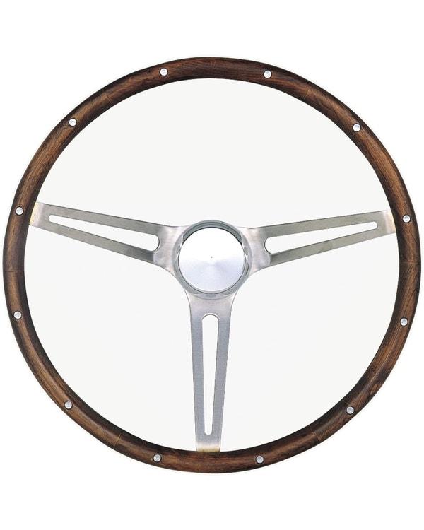 Grant Wood Rim Steering Wheel 15'' with Slots '' Spokes