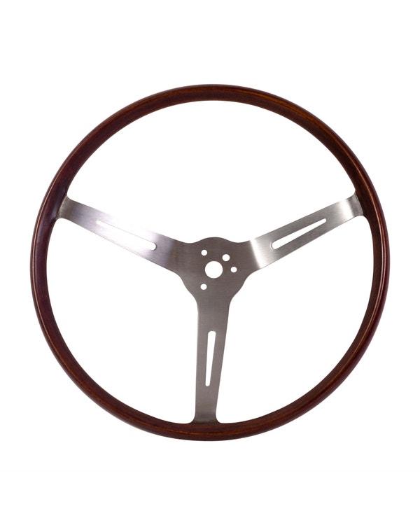 Flat4 GT Wood Rim Steering Wheel 14 Inch