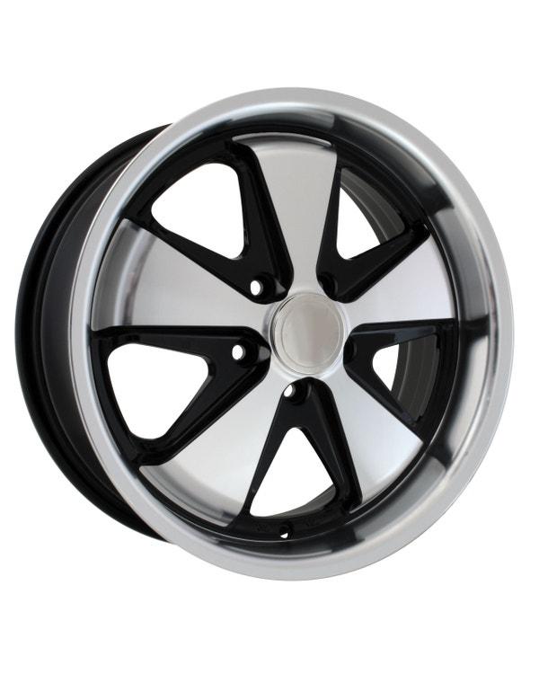 SSP Fooks Alloy Wheel Black and Polished 4.5x15'', 5/130 PCD, ET45