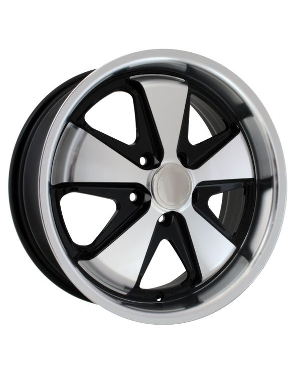 SSP Fooks Alloy Wheel Black and Polished 4.5x15'', 5/130 PCD, ET45
