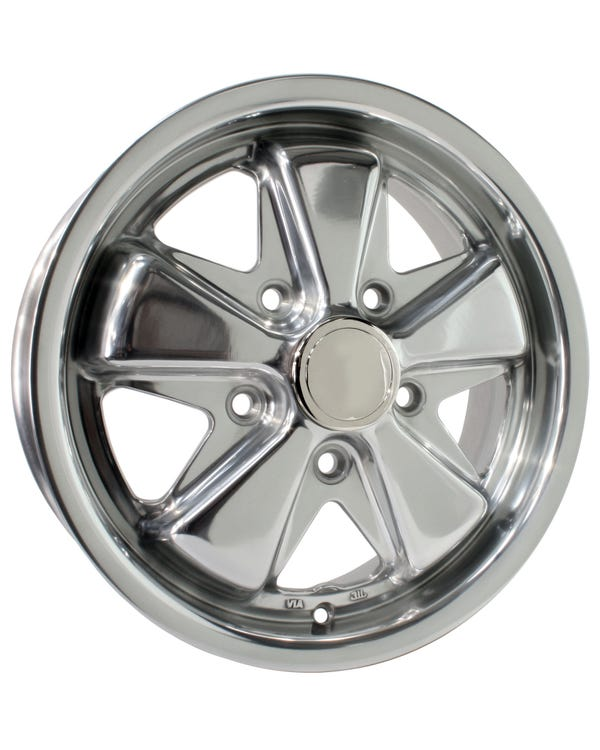 "SSP Fooks Alloy Wheel Polished 4.5x15"", 5/130 PCD, ET45"