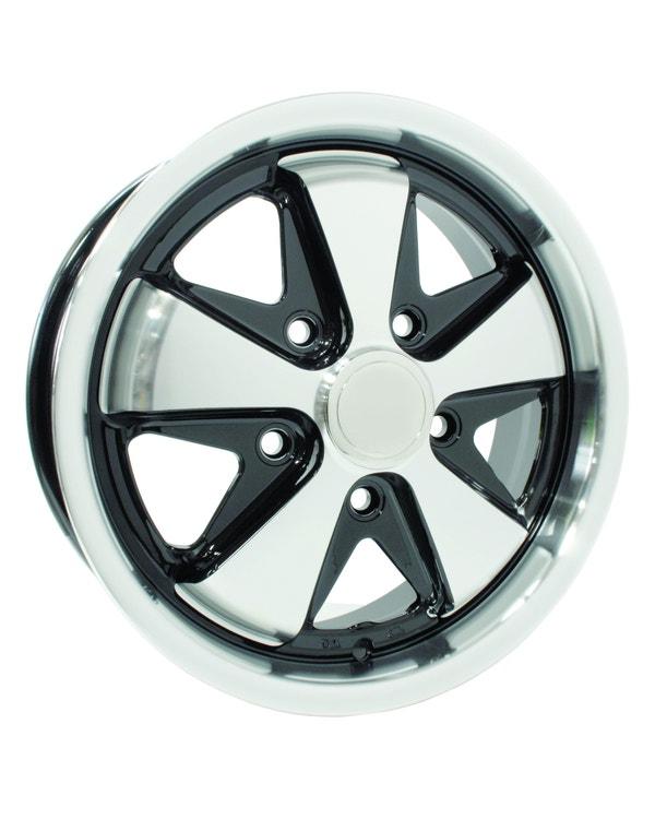 "SSP Fooks Alloy Wheel Black and Polished 5.5x15"", 5/112 PCD, ET20"