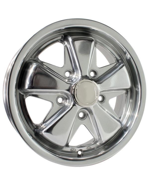 "SSP Fooks Alloy Wheel Polished 5.5x15"", 5/112 PCD, ET20"