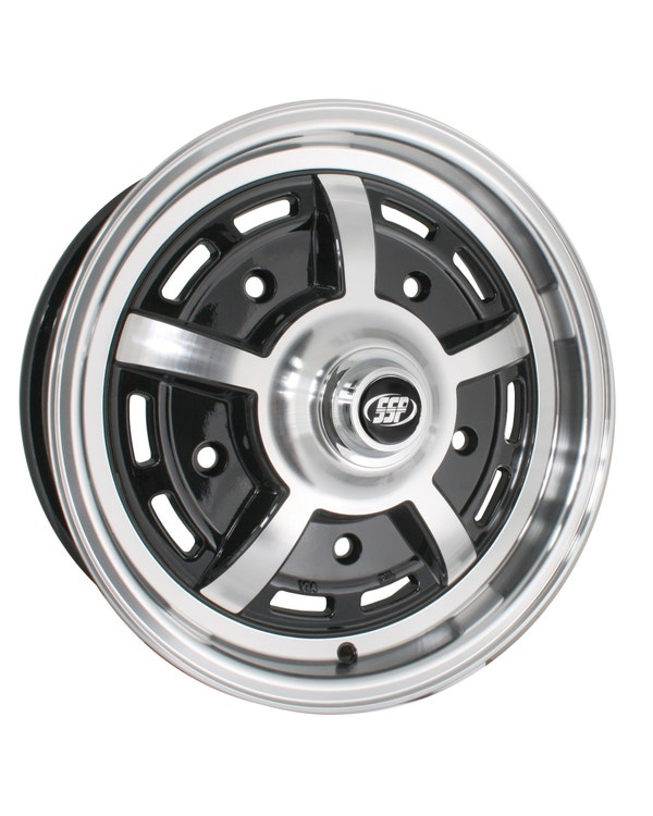 "SSP Sprintstar Alloy Wheel Gloss Black 5x15"", 5/205 PCD, ET20"
