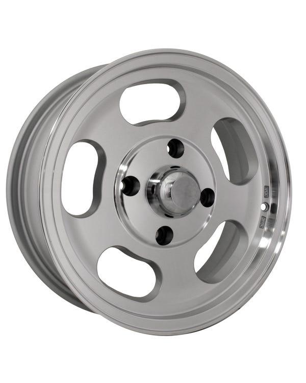 "SSP Slot Mag Alloy Wheel Machine Cut 5.5x15'', 4x130 PCD, 3.92"" BS"