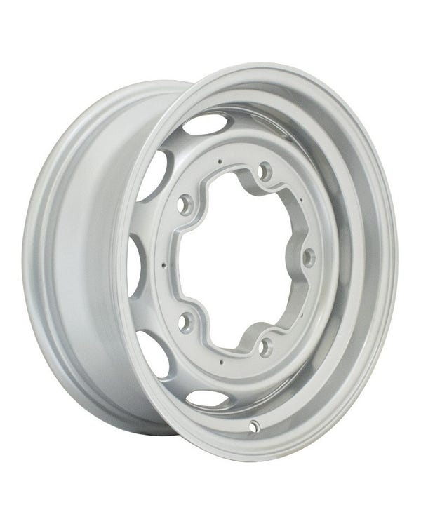 "EMPI 190 Alloy Wheel, Silver 5.5x15"", 5/205, ET20"