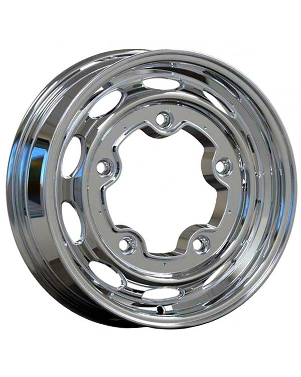 EMPI 190 Alloy Wheel, Polished 5.5Jx15""