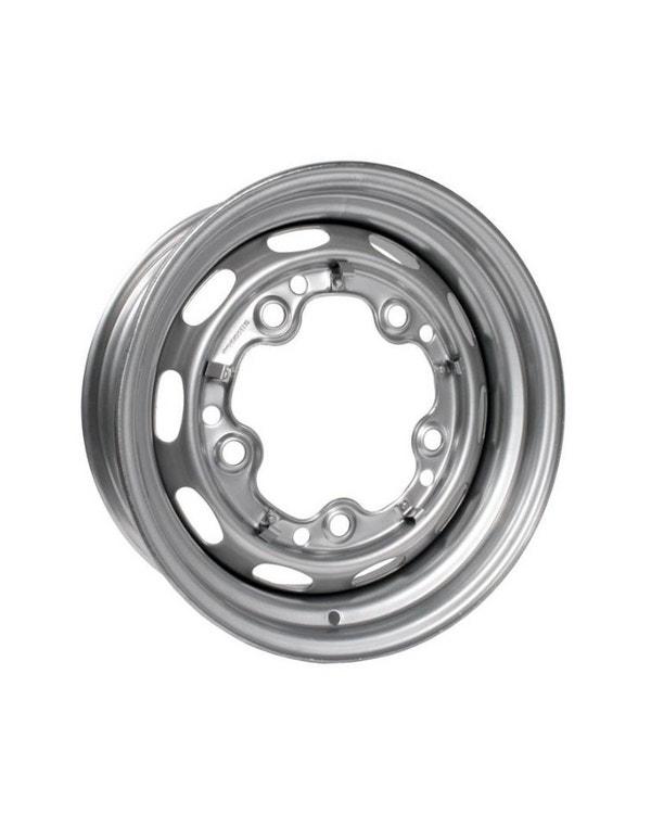 """Silver Steel Wheel 4.5x15"""", 5/205, ET25"""