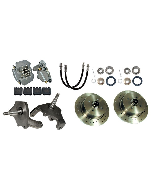 Wilwood Disc Brake Conversion Kit with 4x130 Stud Pattern and Dropped Spindles