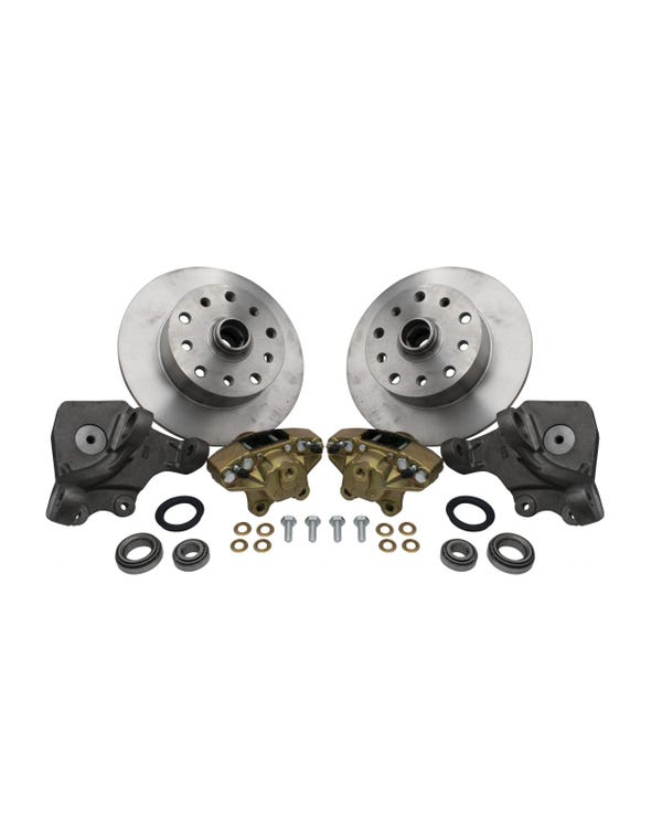 "Front Disc Brake Kit with 5x130/5 x 4.75"" Stud Pattern with Dropped Spindles"