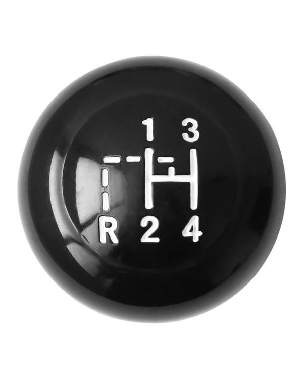 Pomo palanca de cambios Vintage Speed, 4 velocidades, en negro