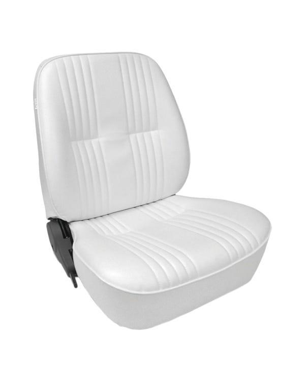 Scat Procar Pro-90 Lowback Seat, White Vinyl, Left