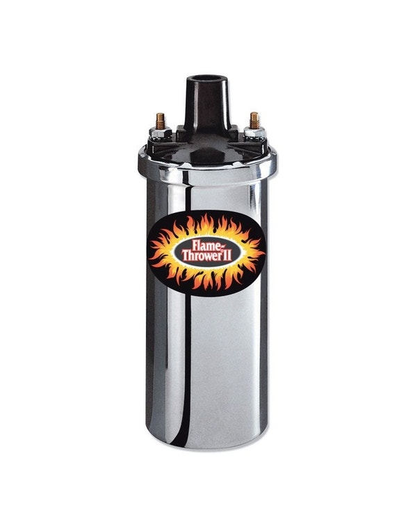 Pertronix Flamethrower Zündspule, 12 Volt, 2, 0,6 Ohm Buchsenanschluss, in Chrom