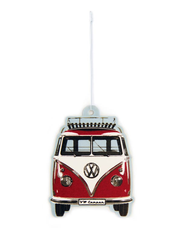 VW Splitscreen Air Freshener in Red and White