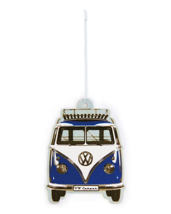 VW Splitscreen Air Freshener in Blue and White