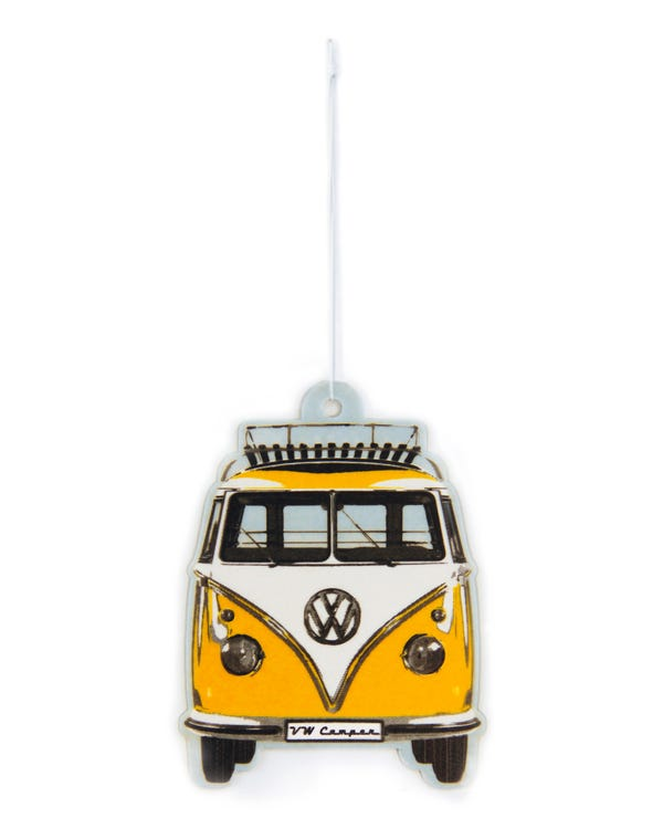 VW Splitscreen Air Freshener in Yellow and White