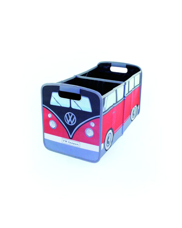VW Splitscreen Foldable Storage Box in Red and Black