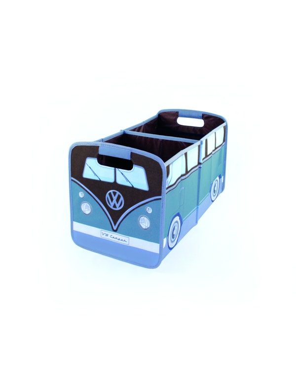 VW Splitscreen Foldable Storage Box in Green and Brown