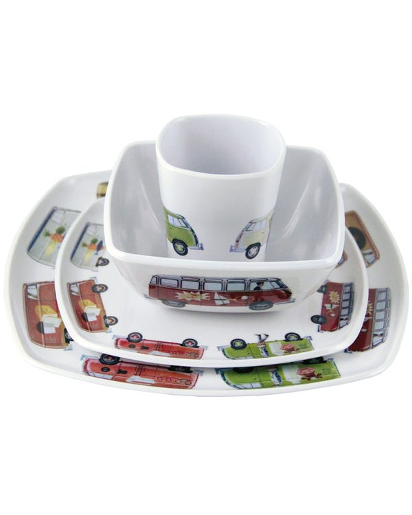 4 Piece Melamine Tableware Set