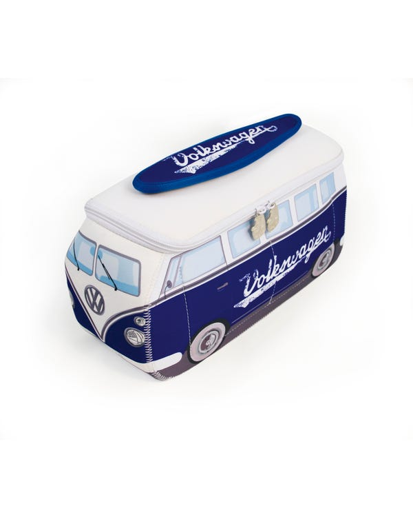 VW Splitscreen Neoprene Bag in Blue and White