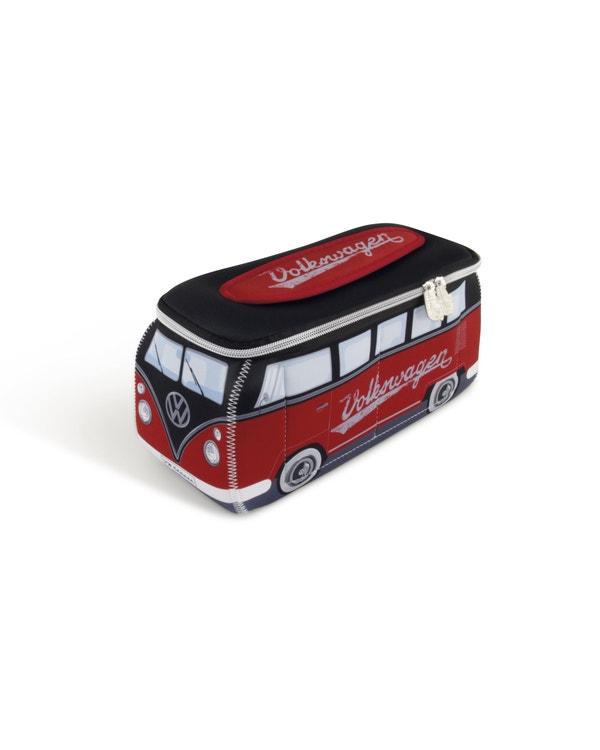 VW Splitscreen Neoprene Bag in Black and Red