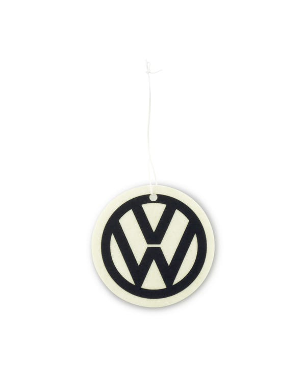 VW Logo Air Freshener in Black and White