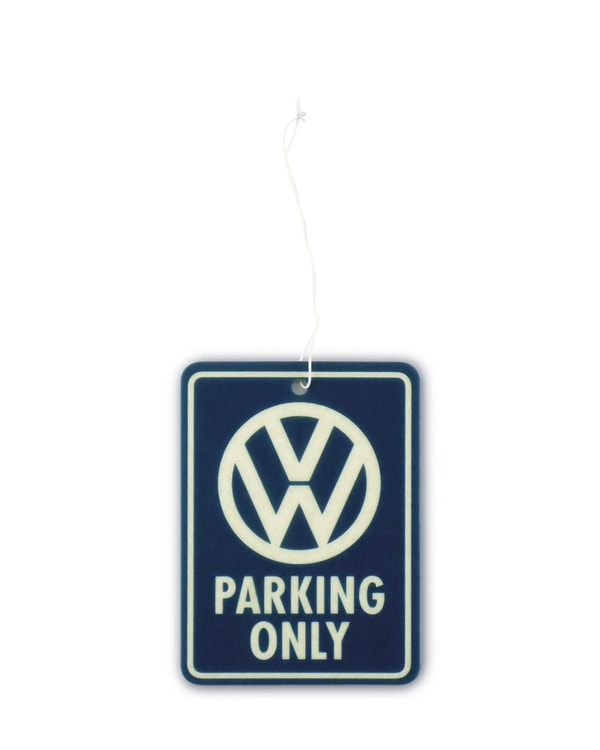 VW Parking Only Air Freshener in Blue and White