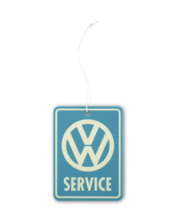 VW Service Air Freshener in Blue and White