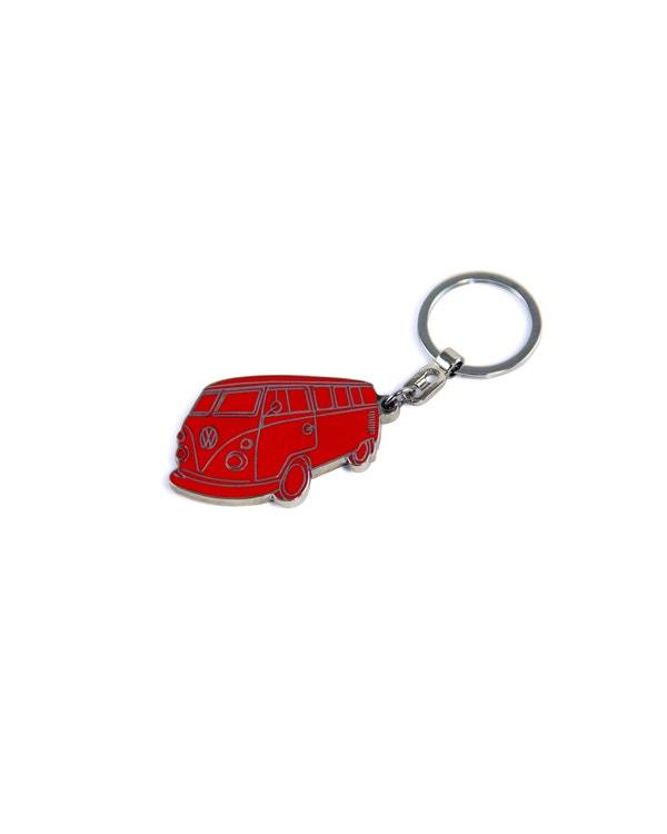 Red Splitscreen Keyring