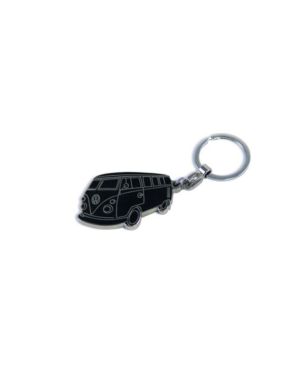 Black Splitscreen Keyring