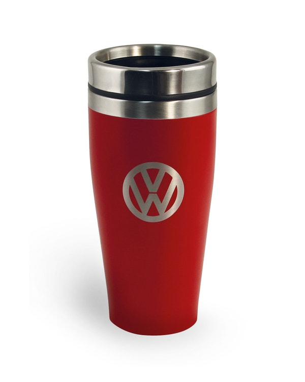 VW Stainless Steel Travel Mug in Red