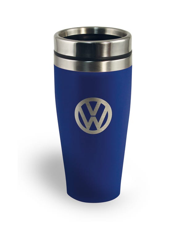 VW Stainless Steel Travel Mug in Blue