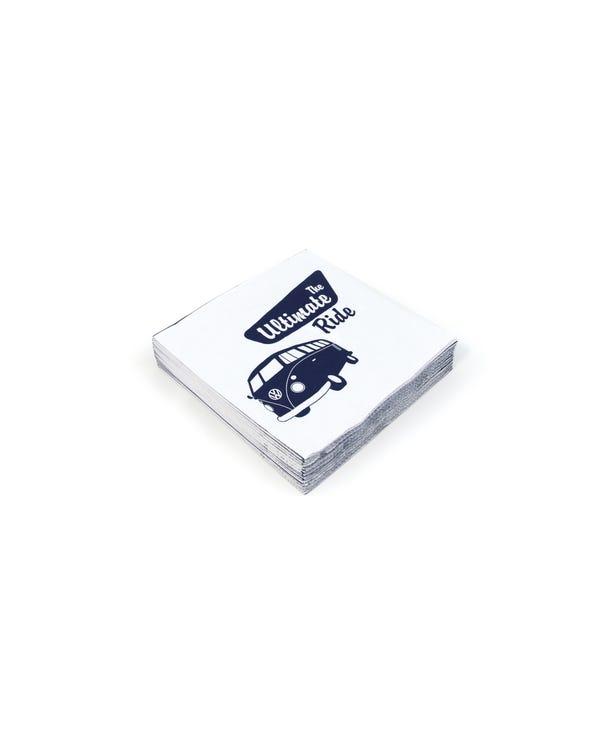 Servilletas Splitscreen azul y blanco