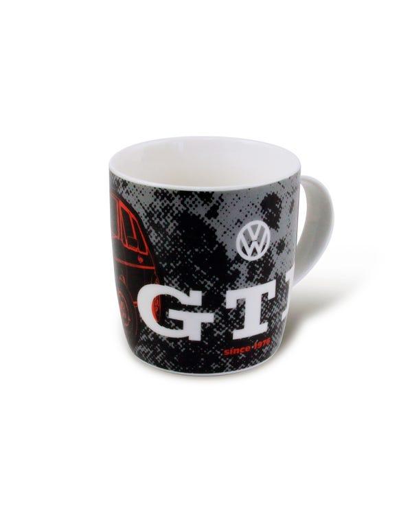Kaffeetasse, mit Golf 1 und GTI Logo