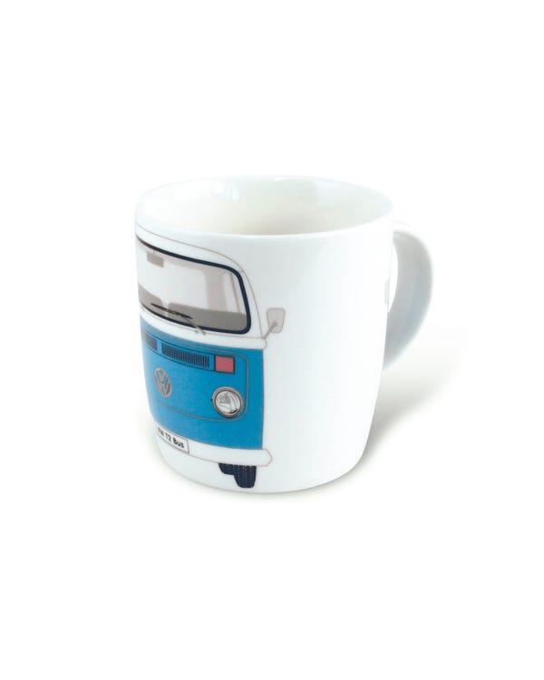Porzellan Kaffeetasse mit blauem T2 Bus