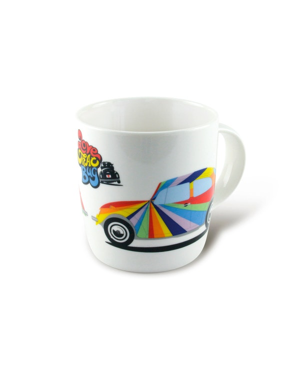 China Coffee Cup with a Colourful Beetle Design