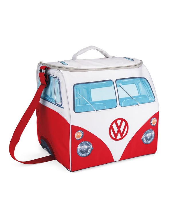 Red and White Splitscreen Cool Bag