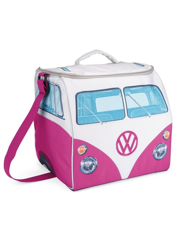 Pink and White Splitscreen Cool Bag