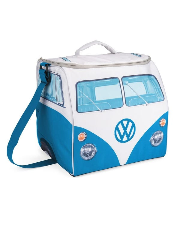 Blue and White Splitscreen Cool Bag