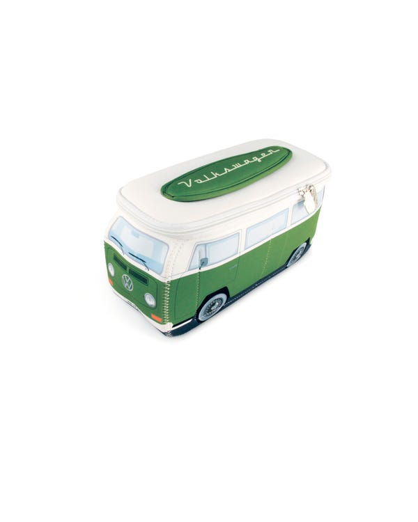 VW Baywindow Neoprene Bag in Green and White