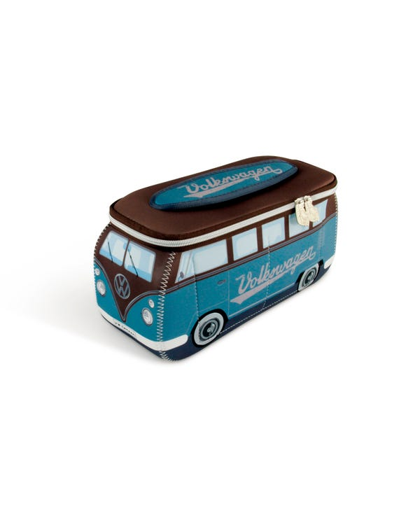 VW Splitscreen Neoprene Bag in Blue and Brown