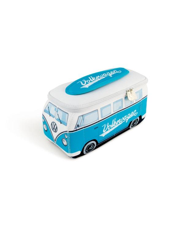 VW Splitscreen Neoprene Bag in Baby Blue and White