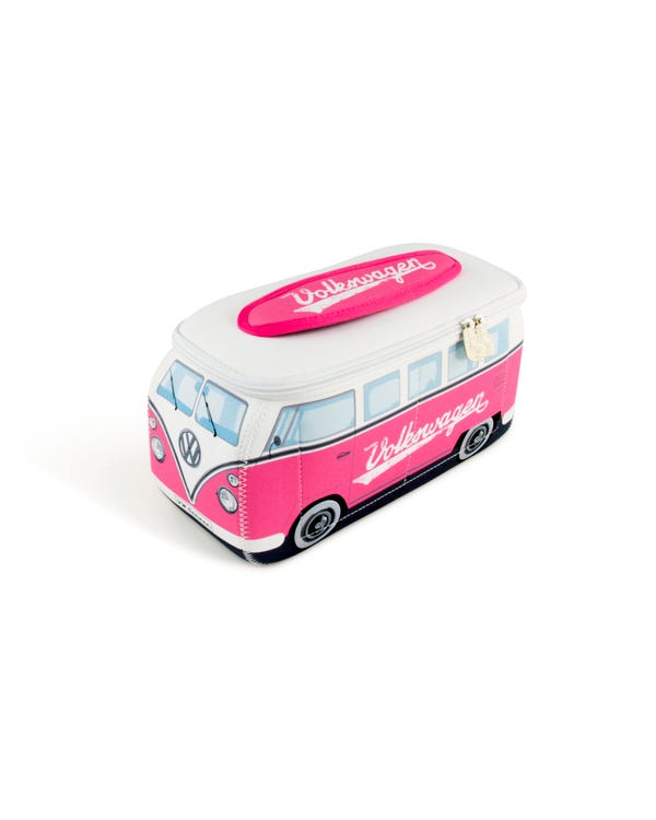 VW Splitscreen Neoprene Bag in Pink and White