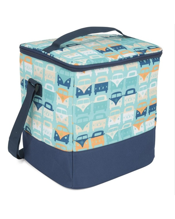 Cool Bag in Blue and Yellow with Splitscreen Buses