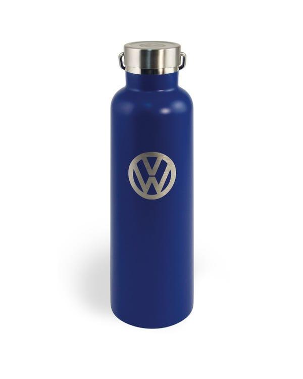 Edelstahltrinkflasche, blau